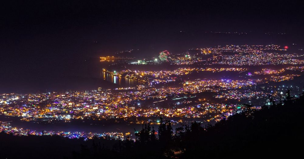 Rishkesh on the eve of Diwali Night Celebration Illuminated Arts Culture And Entertainment Event Sky No People Outdoors Cityscape Beauty Landscape Scenics Travel Tourism Aerial View People Mountain Range Travel Destinations Multi Colored High Angle View Cloud - Sky City Life First Eyeem Photo