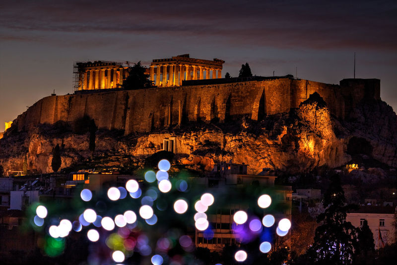 The Parthenon, wintertime. Ancient Athens, Greece Christmas Christmas Lights City Lights At Night GREECE ♥♥ Night Lights Nightphotography Parthenon Ancient Architecture Architecture Athens Building Exterior Built Structure Christmas Decoration City Lights Greece Illuminated Low Angle View Night No People Outdoors Sky Temple Temple - Building