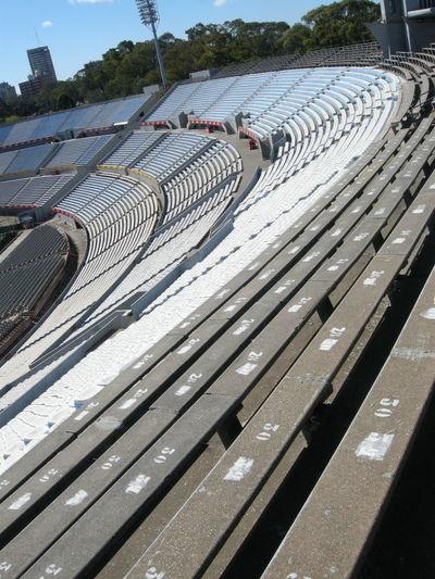 High angle view of empty stadium