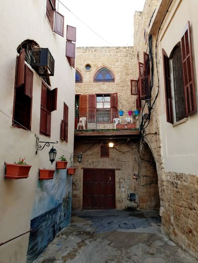 Historic Renewed Sidon Lebanon Focus On The Story City Window Architecture Building Exterior Built Structure Sky Housing Settlement Town
