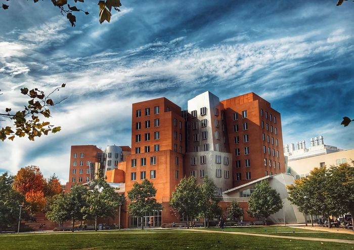 The MIT Stata Center Architecture Building Exterior Built Structure City Sky Tree Cloud - Sky Skyscraper Outdoors City Life Modern Grass No People Cityscape Day Nature Stata Center Mit Shotoniphone7plus