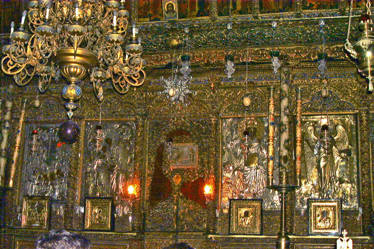 Bethlehem, Israel - Church of the Nativity Altar Architecture Bethlehem Built Structure Ceiling Day Gold Gold Colored Human Representation Illuminated Indoors  Jesuschrist Low Angle View Nativity Church No People Ornate Place Of Worship Religion Sculpture Spirituality Statue The World Before Bin Laden Travel Destinations