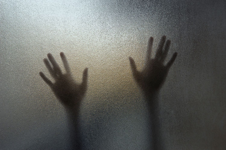 Help me Close-up Condensation Day Defocused Depression - Sadness Drop Fear Frosted Glass Horror Human Body Part Human Hand Indoors  Mystery One Person Palm People Shadow Silhouette Touching Trapped