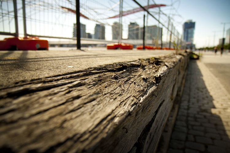 Selective Focus Wood - Material Day Nature Built Structure Transportation Sunlight Outdoors Sky No People Architecture Focus On Foreground Textured  City Close-up Metal Tree Diminishing Perspective Safety Surface Level Long First Eyeem Photo
