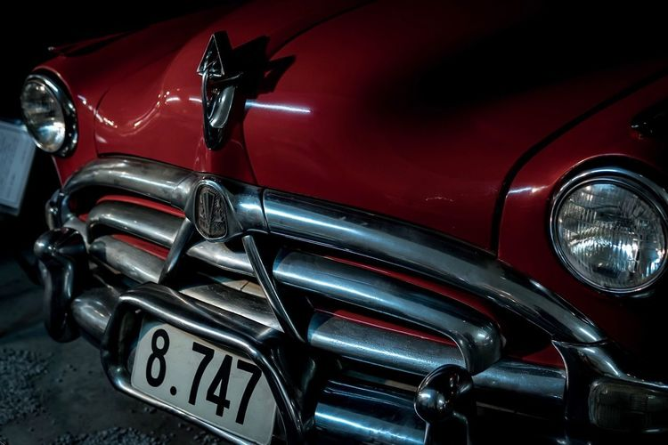 Headlight Car Red Transportation Mode Of Transport Land Vehicle Full Frame Retro Styled Old-fashioned Outdoors Close-up No People Day