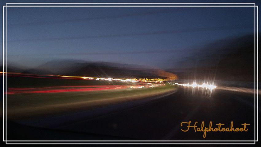 Highway ride towards nashik to pune. Sun set with beautifully skygolden orange background. trolled traffic lights along the roads. Illuminated Outdoors Lights At Night Travel Photography EyeEmNewHere