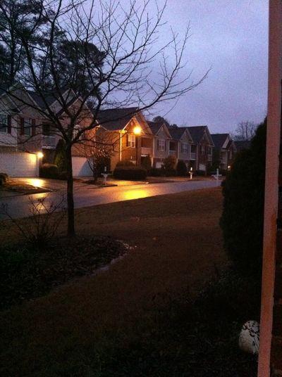 Outside Raining .