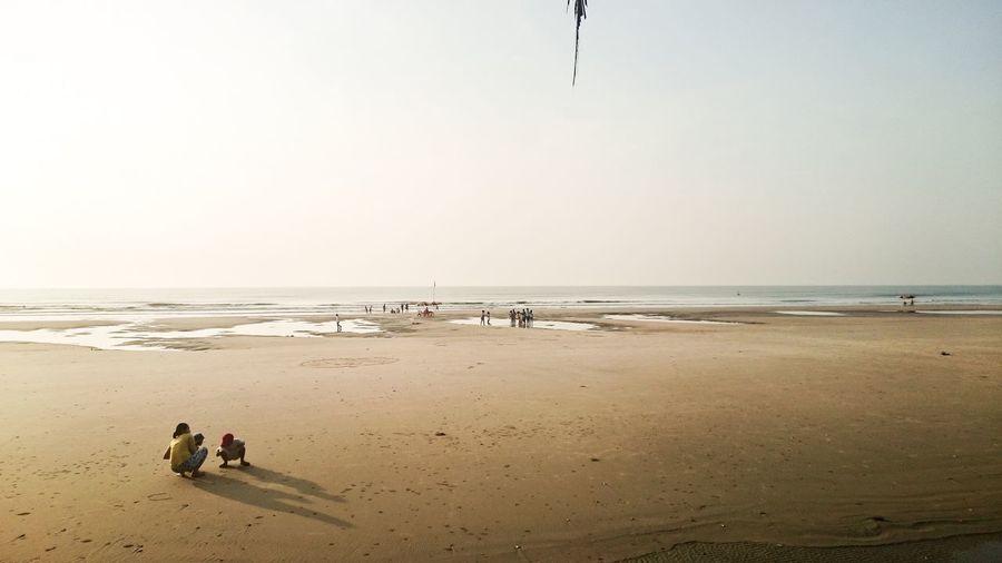 Vietnam Beach Horizon Over Water Sky Shore Nature Vacations Sand Water Vietnamese Vung Tau Vung Tau, Viet Nam Children Mother Warm