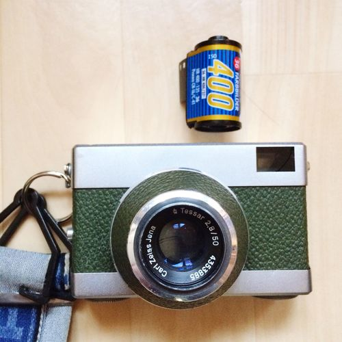 My Werra sees in color actually. Film Filmisnotdead Film Photography 50mm Believeinfilm Ishootfilm Rossmann400 Werra Technology Still Life Retro Styled Metal Photographic Equipment