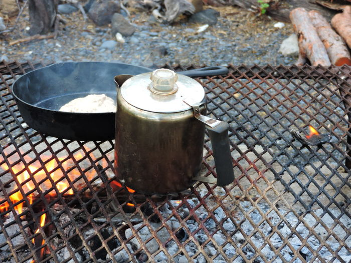 Camping Stove Close-up Day Flame Food Food And Drink Food Stories Freshness Heat - Temperature Metal No People Outdoors Preparation