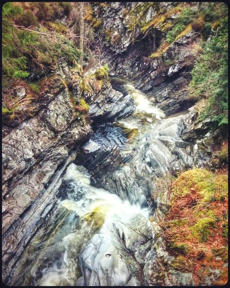 A view down a gorge.. Perthshire Geology Rock Nature Waterfall Falls Of Bruar HDR Hdr_lovers
