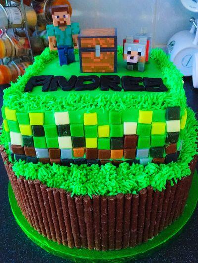 Minecraftthemedcake Homemade Homebaking