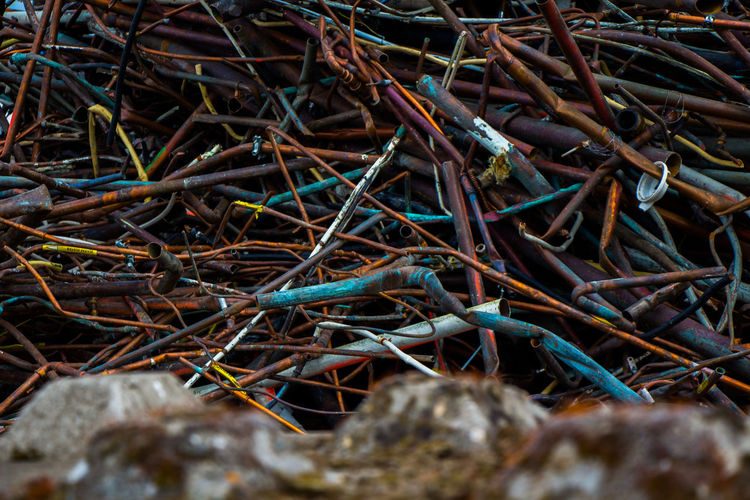 Full Frame No People Outdoors Day Backgrounds Close-up Metal Metal Industry Scrap Metal Scrap Yard Industry Industrial Photography