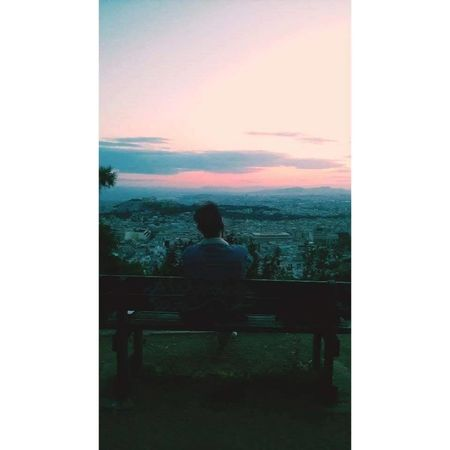 Acropolis Athens, Greece Check This Out Lycabettus Outdoors Sitting Sky Sunset