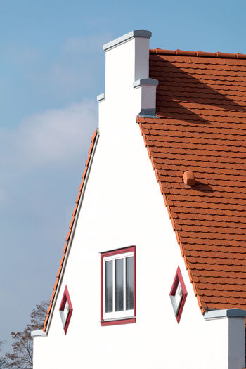 Low angle view of house against sky