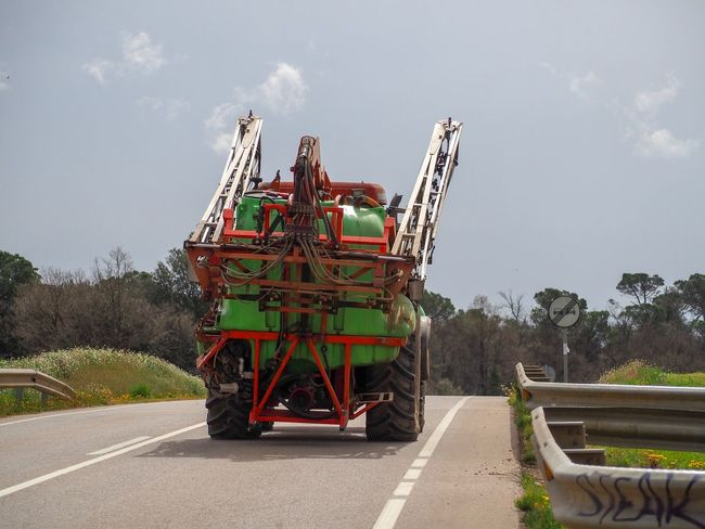 Sky Transportation Nature Day Road Cloud - Sky Mode Of Transportation Plant No People Tree Land Vehicle Machinery Motor Vehicle Motion