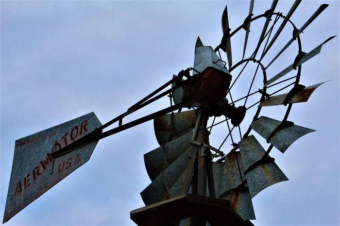 Windmill Aermator Antique Farm Farm Life Farmland History Through The Lens  Rustic USA Wind Power Windmill Animal Themes Clear Sky Day Farm Equipment Farming History Low Angle View Metal No People Outdoors Overcast Skies Sky Windmill Of The Day Windmill Photography Windmills #photography