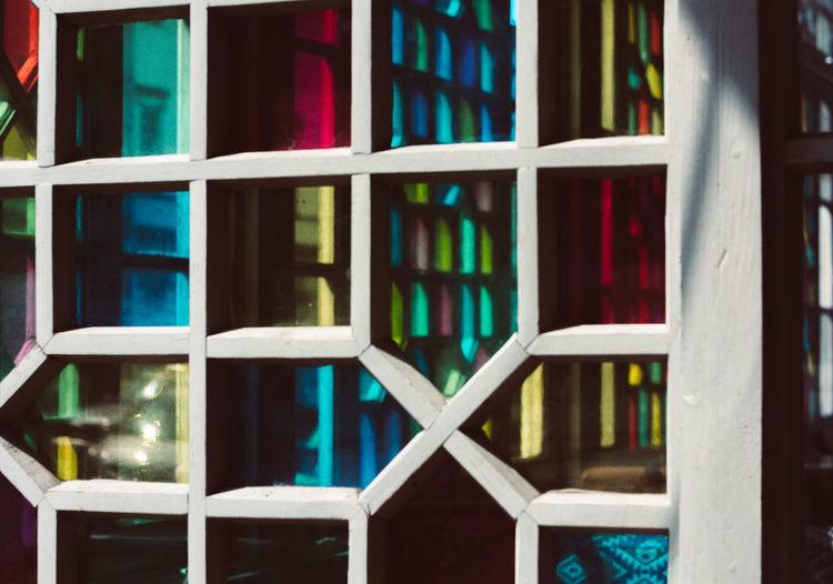 Full frame shot of books in building
