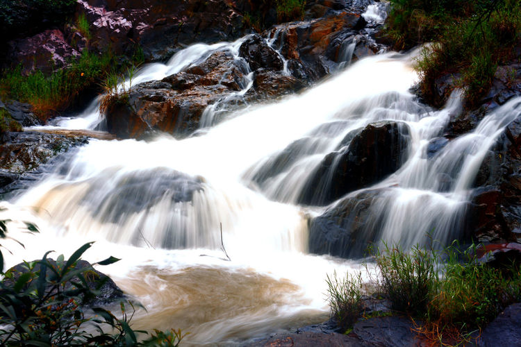 Dalanta Waterfall Vietnam Dalanta Dalat Vietnam Beauty In Nature Blurred Motion Environment Flowing Flowing Water Forest Land Long Exposure Motion Nature No People Outdoors Plant Power In Nature Rainforest Rock Rock - Object Scenics - Nature Solid Stream - Flowing Water Tree Water Waterfall
