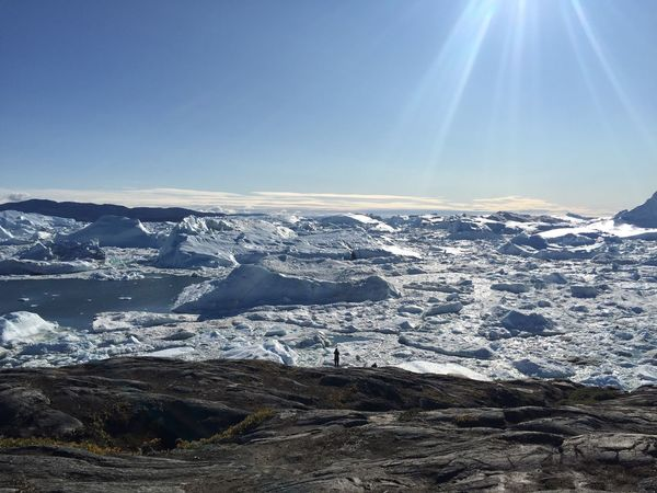Beauty In Nature Iceberg Greenland Global Warming Outdoors Nature Sunlight Water Beauty In Nature Real People Hiking Arctic Summer Greenland,ilulissat Standing