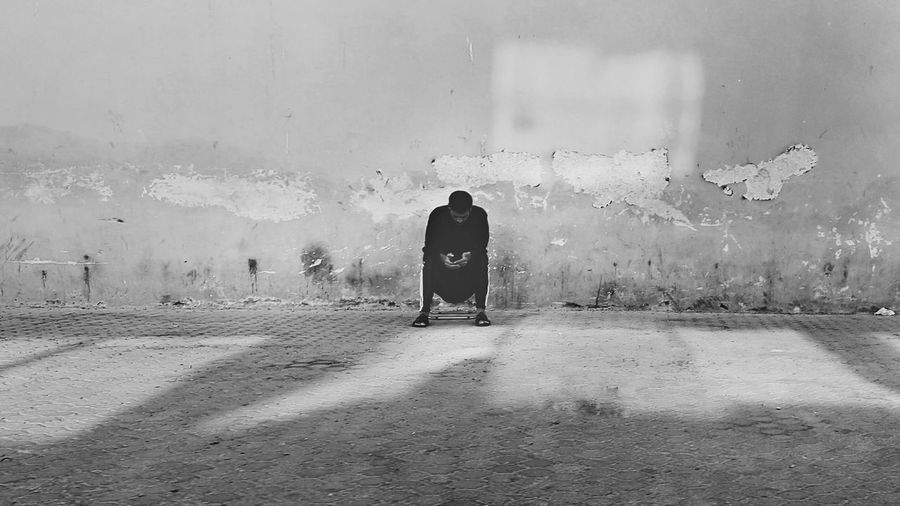 Alone Men Solitude Sitting Facebook Socialnetwork