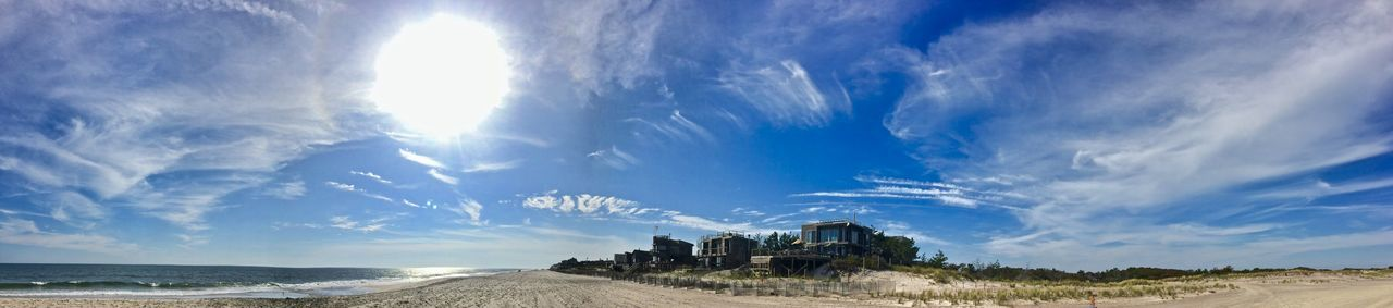 Beach Photography Fire Island NY Beach Beachphotography Blue Cloud - Sky Day Demendozaphotography Fire Island Pines IPhone Landscape Nature No People Outdoors Panoramic Sand Scenics Sky Sunlight Travel Destinations