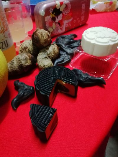 MooncakeFestival Mooncake Red No People Close-up 菱角 Yuzu Citrus Choya Yam Mini Food Pamelo