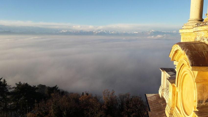 Architecture Cloud - Sky Landscape Travel Destinations Building Exterior Mountain Architecture Tourism Superga (To) Torino