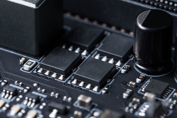 Electronic chip Circuit Board Close-up Computer Computer Chip Computer Part Electronics Industry Expertise No People Technology