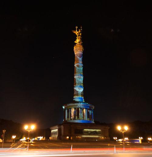 Festival Of Lights 2015 Siegessäule  Langzeitbelichtung