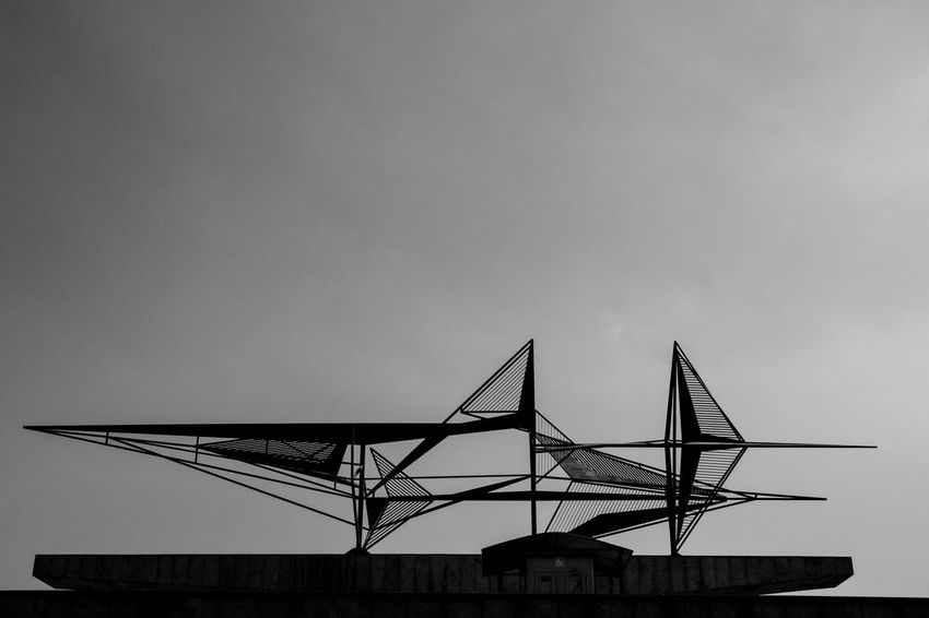 Monumento aos Pracinha - RJ RJ Rio De Janeiro Architecture Built Structure Clear Sky Day Julhofragaphotography Low Angle View Monumento Aos Pracinhas Rj Nature No People Outdoors Piece Of Art Sky Structure Work Of Art Blackandwhite Pretoebranco Black & White