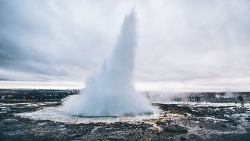 Beauty In Nature Erupting Geology Geyser Heat - Temperature Hot Spring Nature Outdoors Physical Geography Power In Nature Volcanic Landscape Water
