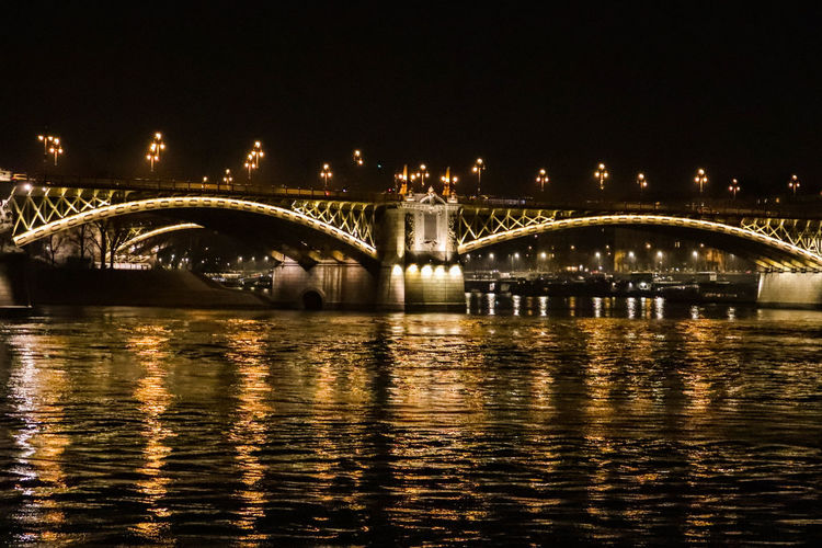 Bridge Built Structure Bridge - Man Made Structure Connection Architecture Water Night Transportation River Waterfront Reflection Illuminated Engineering City Arch Building Exterior Outdoors Arch Bridge Nighttime Nigthlight Nightlife