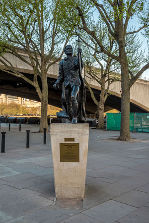 A statue of Laurence Olivier near National Theatre in South Bank, London, England Actor Architecture City Center City Centre Famous Great Britain London Modern Olivier Performing Riverside Statue Thames River United Kingdom Art Building Capital Denys England Great Lasdun Laurence Location National Flag Theatre