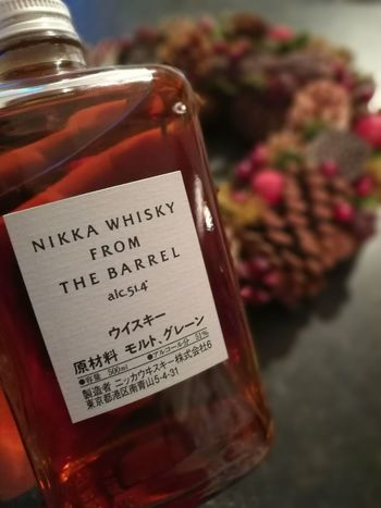 Nikka NIKKA Whisky From The Barrel Red Christmas Ornament Drink Christmas No People Handwriting  Alcohol Event Gift Close-up Advent Day Christmas Outdoors