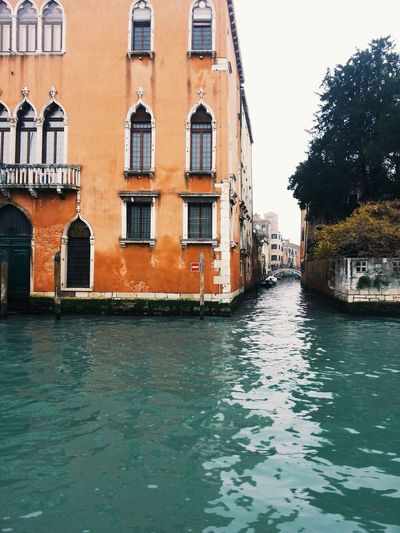 Grand canal and small canal perspective, in venice, italy