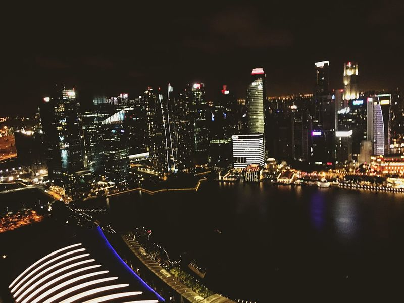 How great view Marinabaysands Singapore Wannagoback シンガポール マリーナベイサンズ City Night View Of City