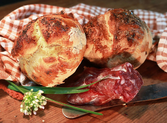 Bread Bread Rools Buns Country Style Food Photography Food Home Made Bread Rolls Rustic Vintage Photo
