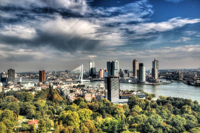 Architecture City Cloud - Sky HDR Hdrphotography Holland Rob Handgraaf Fotografie Rotterdam Rotterdam Skyline Sky