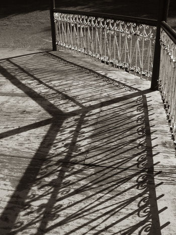 FENCES Architecture Blackandwhite Photography Metal Pattern Railing Shadow Sunlight Urban