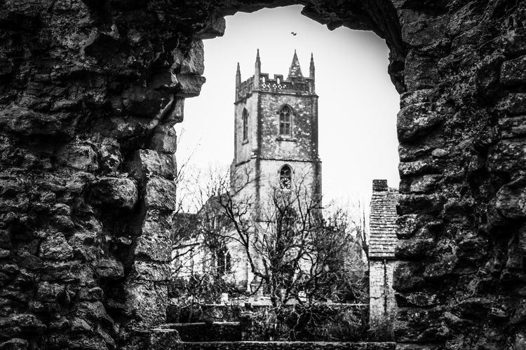 Black And White Castle Walls Castle Ruin EyeEm Best Shots EyeEm Nature Lover EyeEmBestPics Beauty In Nature City Tree Clock Clock Tower Place Of Worship Tower Sky Bell Tower Christianity Spire  Bell