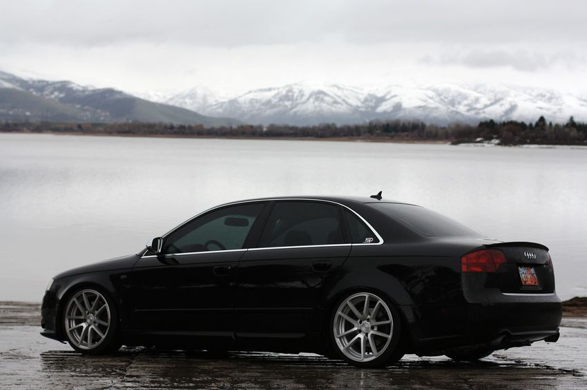 Snow Covered Mountains Lake Lake View Audi Audia4 Audib7 Static Low_restriction German Engineering Audilove Lowdaily Quattro Audi A4