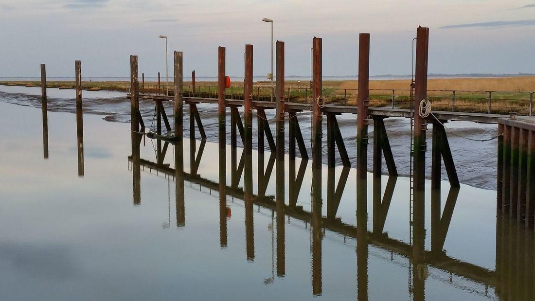 Landscape Horizon Over Water Day Sky Outdoors Vareler Schleuse Vareler Hafen No People Reflection Water