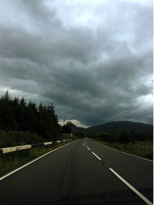 The welsh country roads... Creepy Sky Country Road