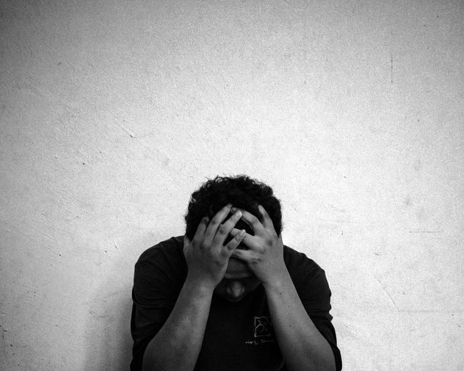 Feeling Down... Sadness... Depression.. Depression - Sadness Sadness Head In Hands Disappointment Despair Grief Worried Loneliness One Person Distraught  Relationship Difficulties Only Men Tensed Men One Man Only Adults Only EyeEmNewHere The Portraitist - 2018 EyeEm Awards