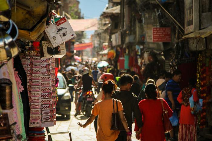 ASIA Asian Culture Chaos Hindu Kathmandu Kathmandu, Nepal Market Nepal Shopping Architecture Building Exterior Built Structure City Day Kathmandu Durbar Square Large Group Of People Men Nepal Travel Outdoors People Real People Street Text Thamel Street Women Adventures In The City The Street Photographer - 2018 EyeEm Awards The Traveler - 2018 EyeEm Awards #urbanana: The Urban Playground