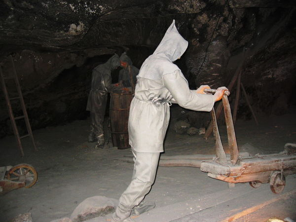 2007 Darkness Poland Underground Wieliczka Salt Mine Dummies Full Length Historical Manual Worker Salt Mine Workers