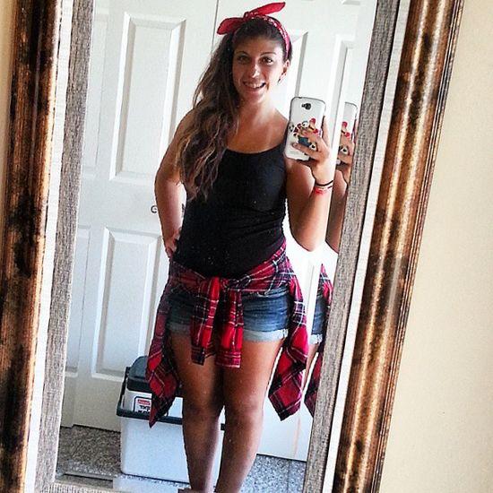 First selfie of the summer in a while :) Feelingcute Ootd Countrygirlvibe Bandanahair Selfie Enjoyingsummer Endofsummer Soccerplayoffs