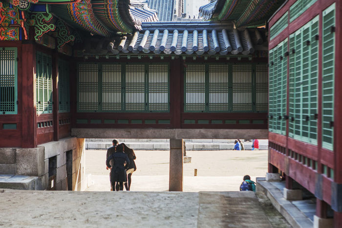 Architecture Building Building Exterior Built Structure Ceiling Chosun Dynasty City City Life Column Culture Deoksugung Palace Empty Famous Place Historic In A Row Indoors  Korean Traditional Architecture Narrow Palace Railing Urban Wall Window Wood Wood - Material