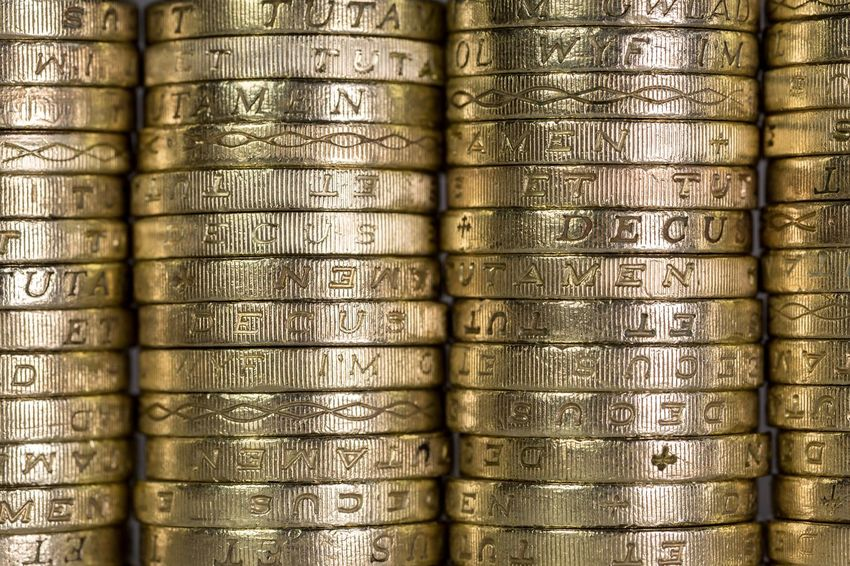 Q quid Money Cash Currency British Pound Sterling Pound Uk Foreign Exchange  Stock Golden Chancellor Accountancy Budget Coins Showcase: March Bank Pound Quid Coin Finance